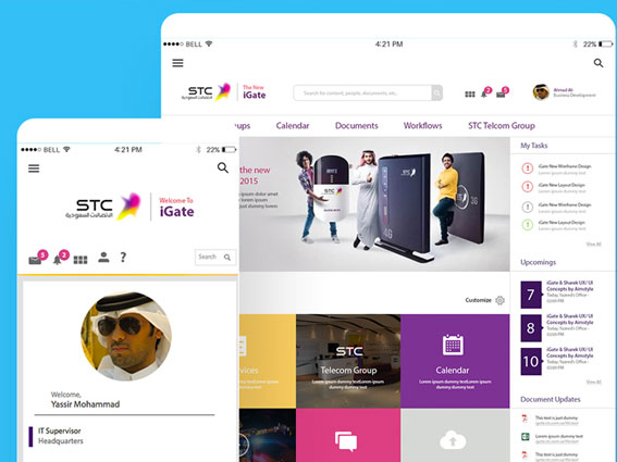 STC iGate UX/UI Project Delivery