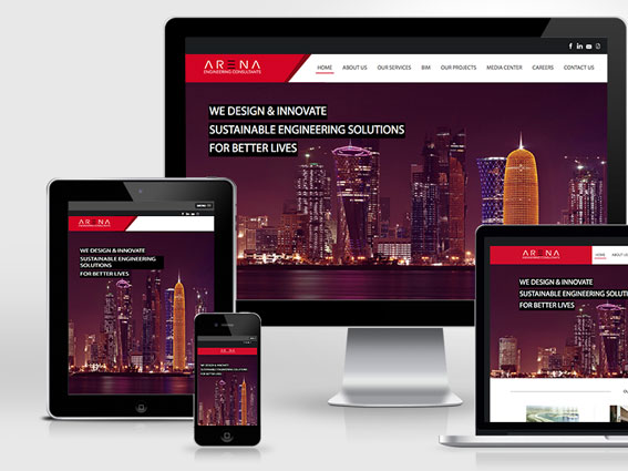 Arena engineering consulting Qatar | website launch