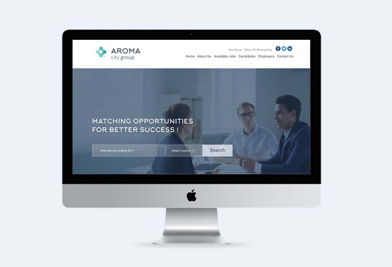 Launching Aroma City Group website