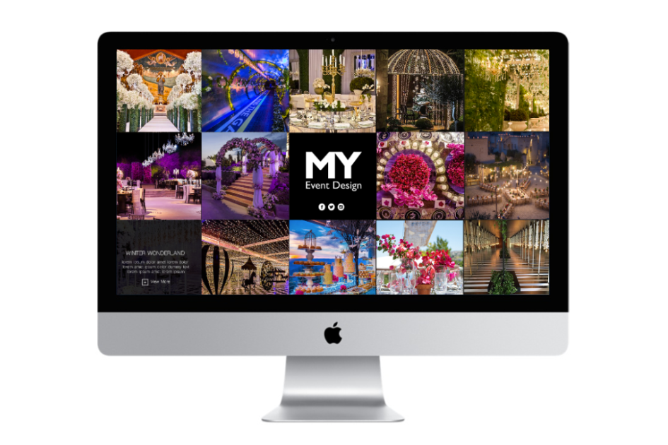 Jordan's Event Planner of the Year launches a website with Aimstyle