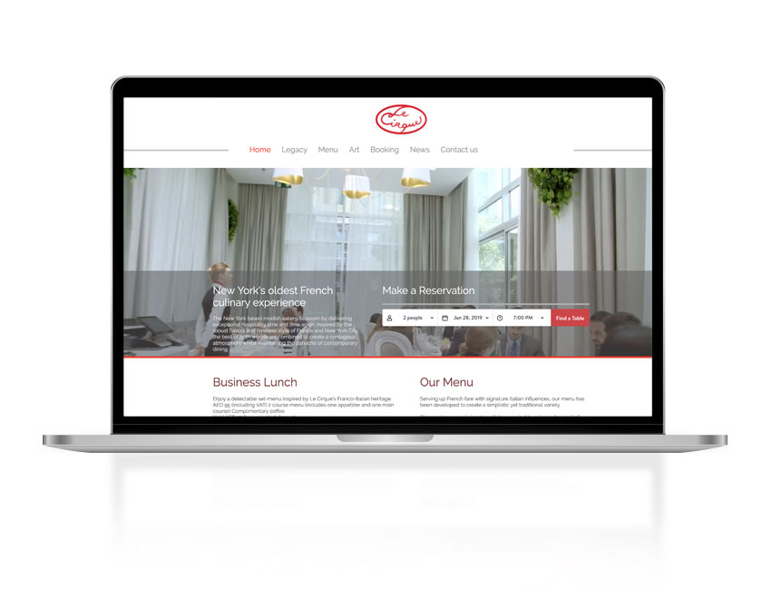 Aimstyle portfolio | Le Cirque Dubai Website Launch