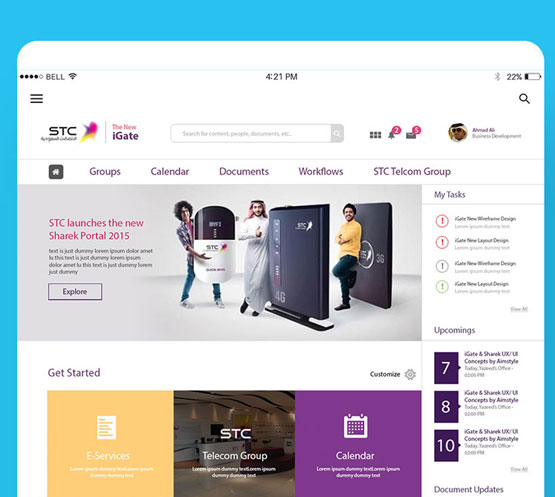 STC iGate, Enterprise Collaboration Portal UX/UI